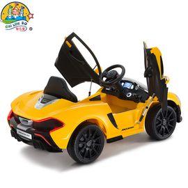 智乐堡 儿童电动车迈凯伦跑车小孩四轮可坐遥控玩具汽车双驱动赛车