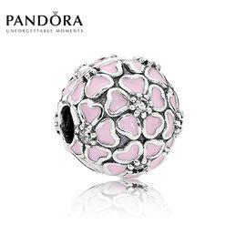 PANDORA 潘多拉 樱花烂漫 搪瓷+立方氧化锆925银 洲际速买
