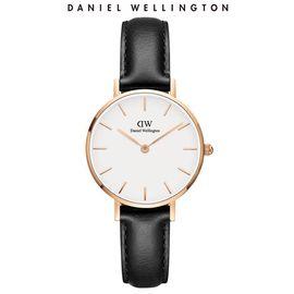 Daniel Wellington 丹尼尔惠灵顿手表DW女士金边皮质表带28mm白盘时尚欧美简约风手表石英表DW00100230