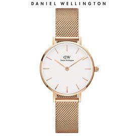 Daniel Wellington 丹尼尔惠灵顿 DW手表女表金属表带32mm金边黑盘欧美简约学生表