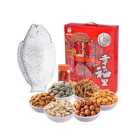 来伊份 幸福里(银运)坚果年货礼盒6款装 买就赠帕莎帕琦年年有鱼零食果盘