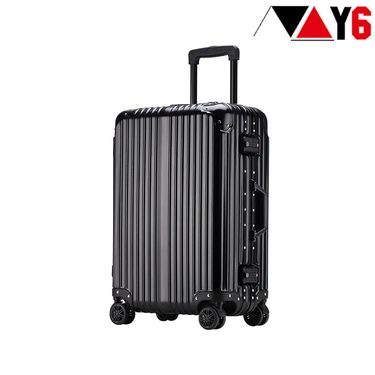 Y6 20寸/24寸高端商务铆钉铝镁合金万向轮拉杆箱 8018款 登机旅行箱 行李箱