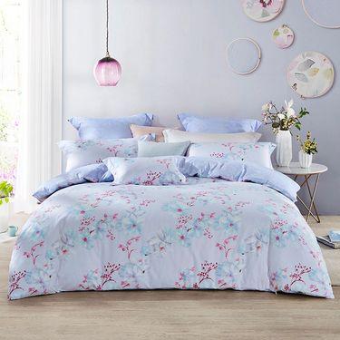LOVO 印花床上四件套床单式套件双人1.5米床 绯红遐想(被套200x230cm)VTT6743-4 pc