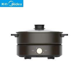 美的MIDEA 家用多功能电热火锅电煮锅多用途锅分体式可拆洗DH2601大火力时尚黑色
