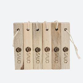 SP SAUCE 天然香樟木条樟木球块片 家具书桌衣柜防霉防潮蛀虫除味6条装