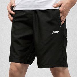 男款运动裤 李宁运动短裤男装2018新款五分裤健身速干透气裤子跑步运动裤