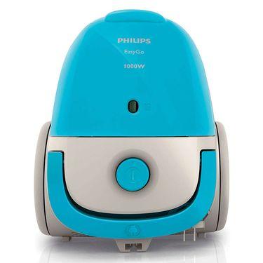 飞利浦 吸尘器 迷你强劲大功率吸尘机 有尘袋水洗滤网FC8082/81 蓝色
