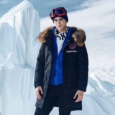 男式羽绒服 2018新款男士羽绒服冬季可脱卸貉子大毛领中长款鹅绒加厚极寒运动外套