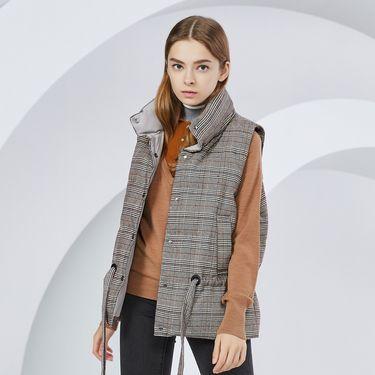 女式羽绒服 2018新款羽绒马甲女士冬季立领马夹短款外套