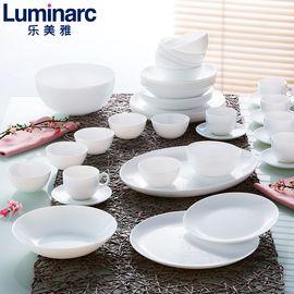 乐美雅 (Luminarc) 白玉餐具迪瓦利餐具20件套 餐盘法式浪漫碗碟家用
