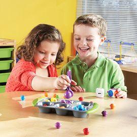 LEARNING RESOURCE 迷你松饼搭配数学教具 益智早教 玩具