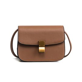 VOCCUE 包包女2018新款欧美时尚斜跨包女锁扣盒子包百搭单肩小包包18388-1