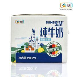 中粮 SUNSIDES上质脱脂纯牛奶200ml