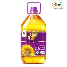福临门 非转基因压榨一级充氮保鲜葵花籽油 健康食用油 滴滴香浓 4.5L