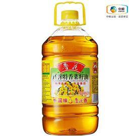 鲁花 压榨特香菜籽油 食用油 物理压榨 不添加抗氧化剂 非转基因 滴滴香浓 5L