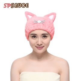SP SAUCE 干发帽 猫耳朵束发带 干发巾强吸水加厚 细纤维包头巾
