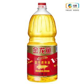 金龙鱼 黄金比例调和油(瓶装 1.8L) 食用油 平衡营养 科学好油