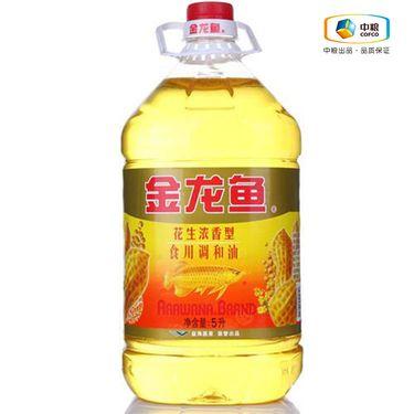 金龙鱼 花生调和油(桶装 5L) 浓香型食用油