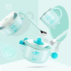 卓理 zolitt 儿童餐具 婴儿注水保温碗宝宝防摔碗辅食碗吸盘碗叉勺套装