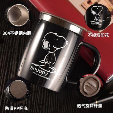 SNOOPY/史努比 SNOOPY史努比(美国)经典款大口径双层隔热杯(420ml)带盖