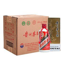茅台 飞天茅台 53度白酒500ml*6 瓶整箱装