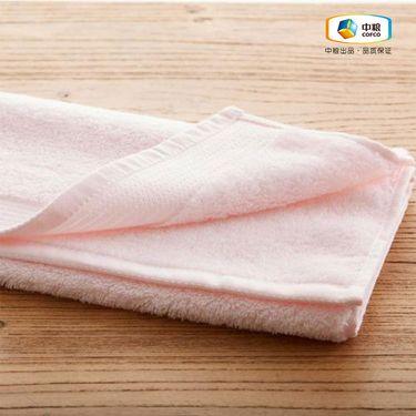 中粮 简沃-素色纯棉加厚毛巾粉色