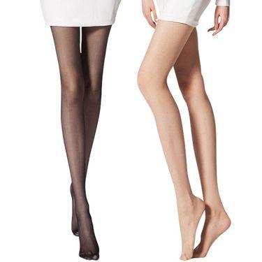 北极绒 春夏款美腿15D包芯丝连裤袜 5双装