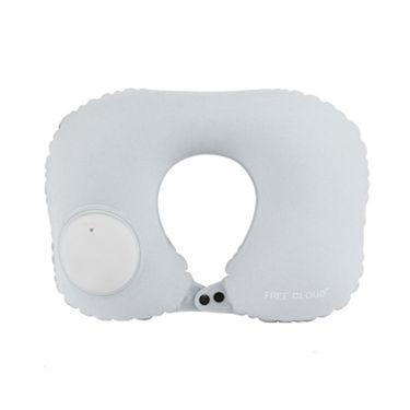 卡佩利丝 按压自动充气枕头便捷颈椎成人飞机颈枕护脖子旅行充气U型枕