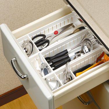 inomata 日本进口抽屉分隔收纳盒 厨房餐具整理盒