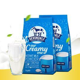 Devondale/德运 全脂高钙青少年成人牛奶粉 1kg*2袋装 澳洲进口 高钙奶粉 小爷猪海外专营店