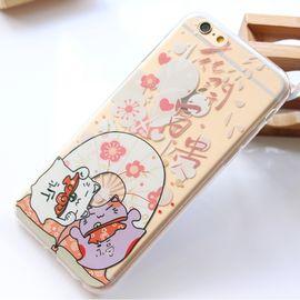蛇蝎龙  手机保护套招财猫透明硅胶软壳4.7/5.5英寸,适用于苹果 iPhone6/6s
