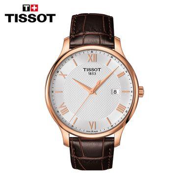 TISSOT 天梭瑞士手表 俊雅系列商务休闲石英男士手表 T063.610.36.038.00