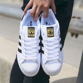 阿迪达斯 Adidas三叶草中性男女SUPERSTAR金标贝壳头经典款运动鞋休闲鞋板鞋 C77124