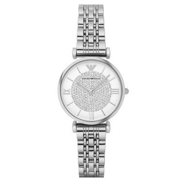 EMPORIO ARMANI 手表 不锈钢表带女士经典时尚休闲石英腕表 AR1925