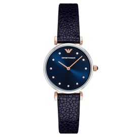 EMPORIO ARMANI 阿玛尼 手表皮质表带休闲时尚石英女士腕表AR1989