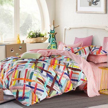 多喜爱 床品套件全棉印花四件套 五色海