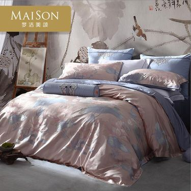 梦洁 家纺 美颂MAISON欧式提花四件套荷韵1.8m被套轻奢提花欧美四件套