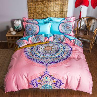 艾桐 高密四件套 纯棉活性印花中国风床品 套件 全棉4件套