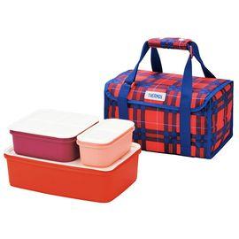 膳魔师 大容量日式便当盒保冷分隔户外野餐盒4件套保鲜盒DJF-4002
