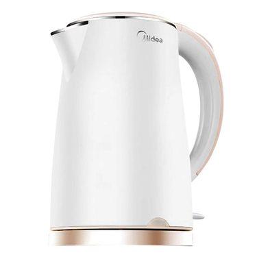 美的 电水壶 1.5L防烫烧水壶不锈钢自动断电 MK-HJ1505WM
