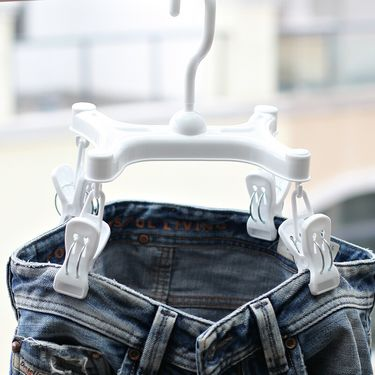 SP SAUCE 日本速干牛仔裤裤架小物晒衣夹衣夹子晾晒架塑料衣架
