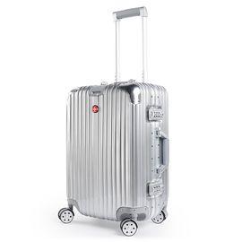 CROSSGEAR 瑞士军刀 时尚铝框拉杆箱 抗压耐摔静音万向轮旅行箱 防刮ABS面料大容量行李箱 CR-1303