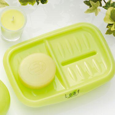 inomata 日本进口肥皂盒 香皂盒 沥水盒 双格可沥水肥皂盒 1个装