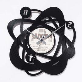 DIS C'O'CLOCK 意大利原产原子球塔黑胶唱片碟挂钟钟表