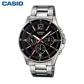 卡西欧 (CASIO)男表商务双日历石英手表时尚腕表 MTP-1374D-1AVDF