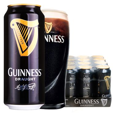 百威 爱尔兰原装进口GUINNESS健力士黑啤酒 440ml*24整箱装
