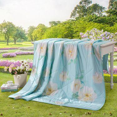 LOVO 精梳全棉春夏被 夏凉被 空调被-清晨淡雅  (200x230cm)
