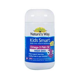 Nature's Way(澳大利亚) 佳思敏 儿童DHA爆浆鱼油咀嚼丸 水果味50粒 启智发育助成长