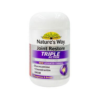 Nature's Way(澳大利亚) 成人维骨力关节灵关节健康氨基葡萄糖三倍软骨素120片 澳洲进口 REX