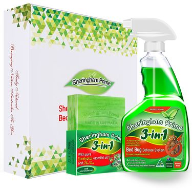Sheringham Prime 喜运亨 澳洲进口除螨虫喷雾剂 除螨润肤香皂组合套装 大瓶除螨750ml+除螨皂100g